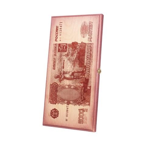 """Нарды """"5000 рублей"""", бук, (50 x 25 x 4) - фото 84540"""
