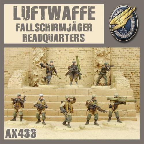 Luftwaffe Fallschirmjager HQ (собран и загрунтован) - фото 93717