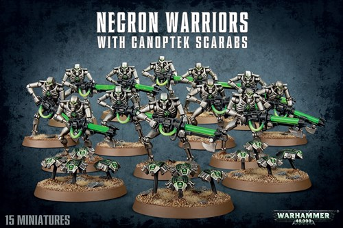 Necron Warriors With Canoptek Scarabs - фото 94468