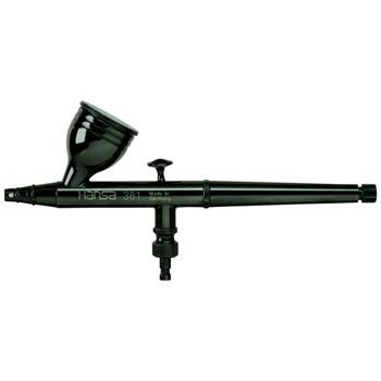 Аэрограф HANSA 381, черный, сопло 0,3 мм., бачок 5 мл., ограничитель подачи краски