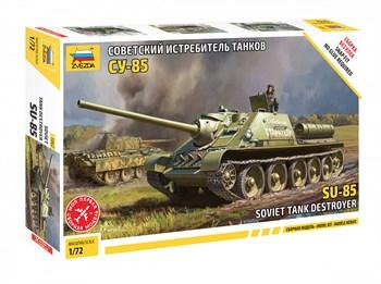 Советский истребитель танков СУ-85  (без клея)