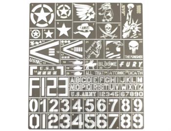 Трафарет Опознавательные знаки современной армии США