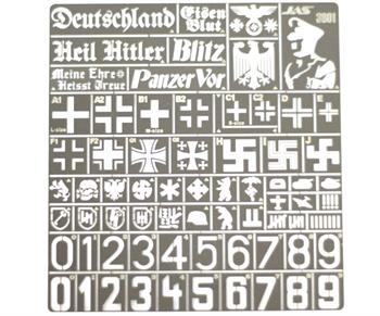Трафарет Опознавательные знаки армии Германии, 2 МВ