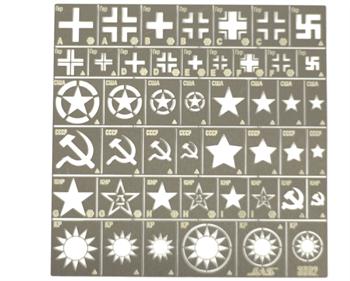 Трафарет Опознавательные знаки армий Германии, США, СССР, КНР, Тайваня, 2 МВ