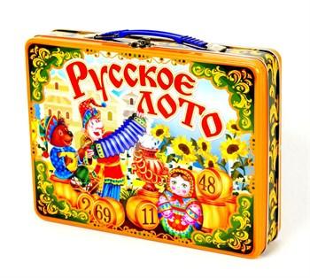 Лото Русское Скоморохи (жестяной чемоданчик)
