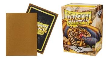 Dragon Shield - Золотые матовые протекторы 100 ук