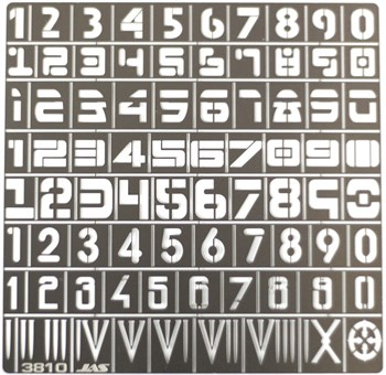 Трафарет цифры, 80 символов