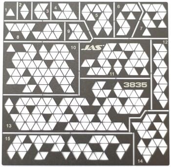 Трафарет Камуфляж треугольники