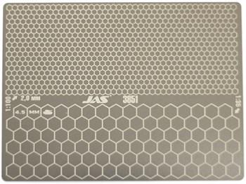 Трафарет двухсторонний для вырезания цифрового сотового камуфляжа