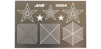 Трафарет для вырезания звезд