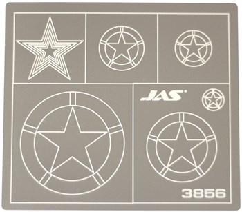 Трафарет для вырезания американских звезд