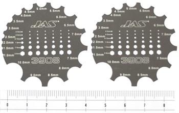 Скрайбер цилиндрических поверхностей и формирования головок болтов и гаек, 2 шт.