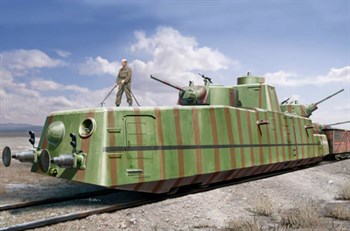 Сборная модель Броневагон  Soviet Mbv-2 ( F-34 Gun)  (1:35) Hobby Boss