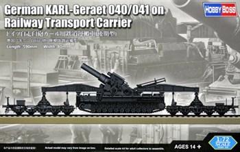 Сборная модель Пушка  German Karl-Geraet 040/041 On Railway Transport Carrier  (1:72) Hobby Boss