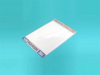 Пластиковые листы (белые матовые) толщиной 1,0мм (2шт.), полистирин 36,4 х 25,7см