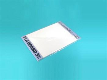 Пластиковые листы (белые матовые) толщиной 3мм (1шт.), полистирин 36,4 х 25,7см