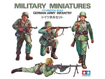 Сборная модель Немецкие пехотинцы 4 (Очень давно не выпускался) Tamiya