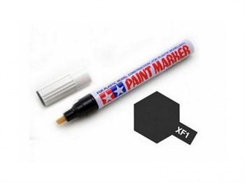 (!) ХF-1 (черный) Маркер с эмал.матовой краской по пластику,металлу,дереву,стеклу