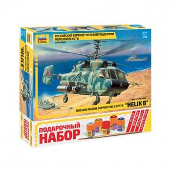 Подарочный набор Российский вертолет огневой поддержки