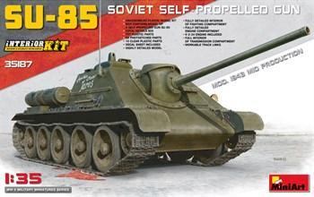 Сборная модель Сау 85 Soviet Self-Propelled Gun Mod.1943 Mid Prod Interior Kit (1:35) MiniArt