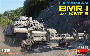 Сборная модель Ukrainian Bmr-1 With Kmt-9  (1:35) MiniArt
