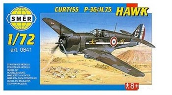 Самолёт  Самолет  Curtiss P-36/H.75 Hawk (1:72)