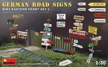 Сборная модель Наборы Для Диорам  German Road Signs Ww2 (EASTERN Front Set 1)  (1:35) MiniArt