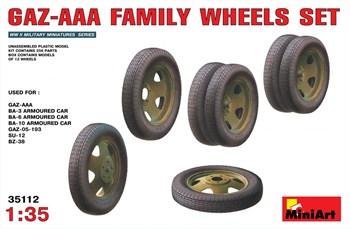 Дополнения из пластика  AAA FAMILY WHEELS SET  (1:35)