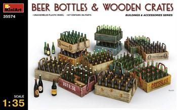 Наборы Для Диорам  Beer Bottles & Wooden Crates  (1:35)
