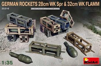 Наборы Для Диорам  German Rockets 28cm Wk Spr & 32cm Wk Flamm  (1:35)