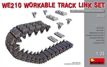 Траки наборные  WE210 WORKABLE TRACK LINK SET  (1:35)