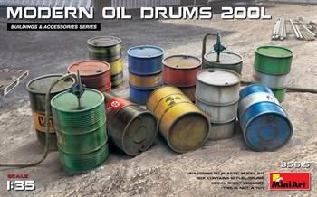 Наборы Для Диорам  Modern Oil Drums 200l  (1:35)