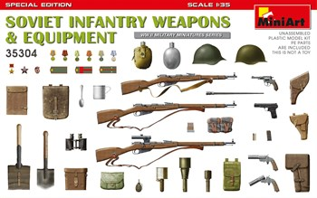 Наборы Для Диорам  Soviet Infantry Weapons & Equipment. Special Edition  (1:35)
