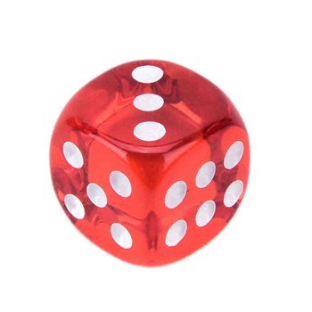 Кубик желе красный 17 мм