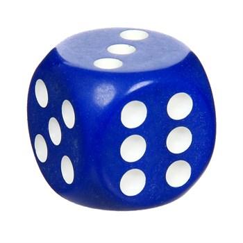 7139 Кости игральные пластиковые, 12 мм, 1 шт, цвет синий