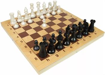 ОФ10 / 010-07 Шахматы гроссмейстерские пластмассовые с доской (400*200*60)