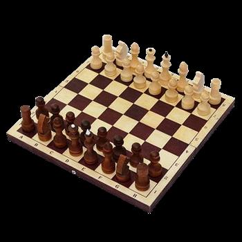 620 / Е-9 Шахматы турнирные парафинированные с темной доской (400 х 200 х 55)