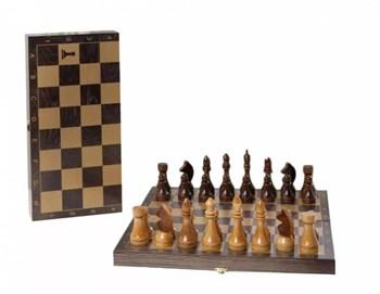 ОФ11 / 196-18 Шахматы гроссмейстерские деревянные с венге доской, рисунок золото (400*200*60)