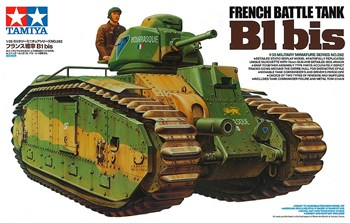 Французский танк B1 bis с наборн.траками и фигурой командира