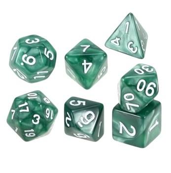 Набор кубиков Stuff Pro для ролевых игр под мрамор. Темно-зеленые