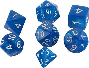 Набор кубиков Stuff Pro для ролевых игр под мрамор. Темно-синие
