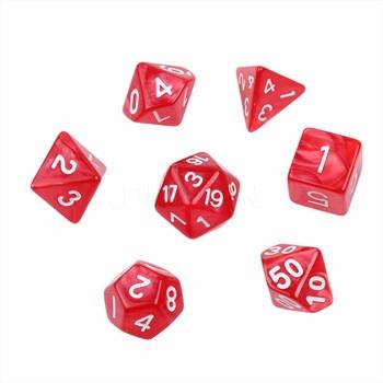 Набор кубиков Stuff Pro для ролевых игр под мрамор. Блестящие красные