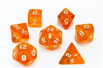 Набор кубиков Stuff Pro для ролевых игр. Прозрачные оранжевые