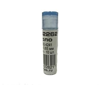 Мини-сверло, HSS 4241, титановое покрытие, d 0,65 мм, 10 шт.
