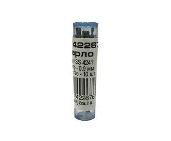 Мини-сверло, HSS 4241, титановое покрытие, d 0,9 мм, 10 шт.