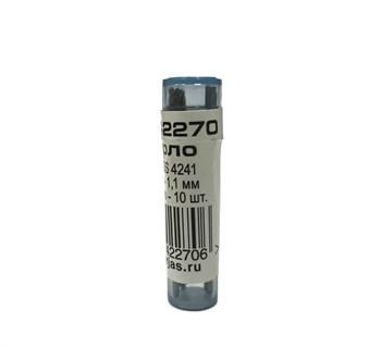 Мини-сверло, HSS 4241, титановое покрытие, d 1,1 мм, 10 шт.