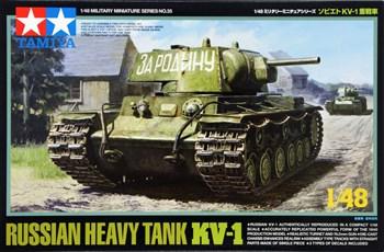1/48 Советский тяжелый танк  KВ-I с 76.2 мм пушкой, металлич.шасси, 3 вар-та декалей.
