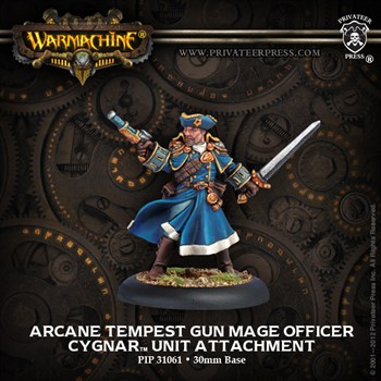 Arcane Tempest Gun Mage Officer - Cygnar Unit Attachment  (Cygnar)