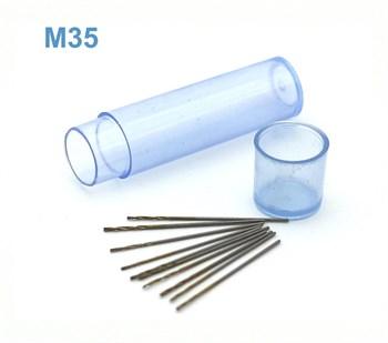 Мини-сверло, HSS M35, титановое покрытие, d 0,65 мм, 10 шт.