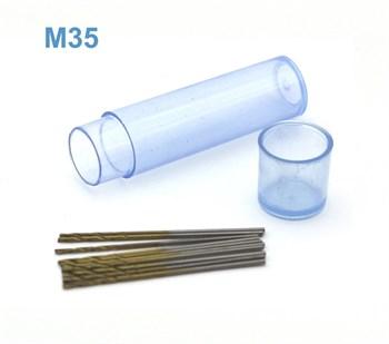 Мини-сверло, HSS M35, титановое покрытие, d 0,85 мм, 10 шт.